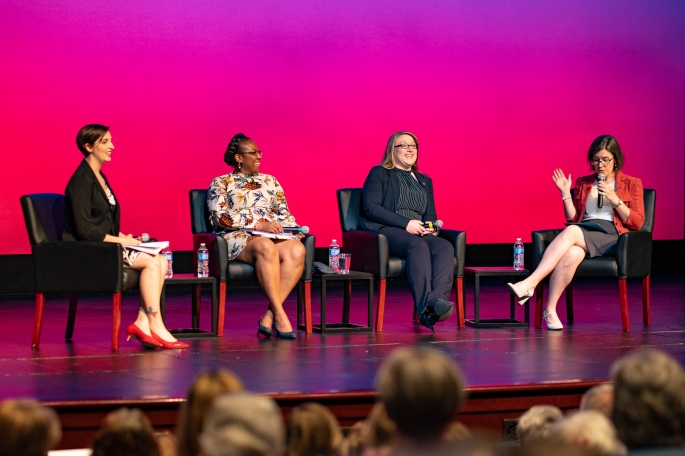 Wranosky participates at June 2019 Keynote panel for suffrage exhibit at Bob Bullock Texas History Museum in Austin.
